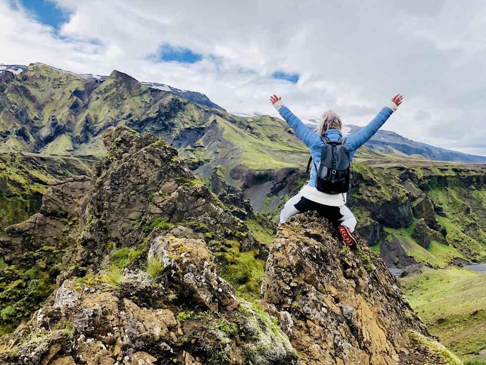 Woman Climbing HER Mountain