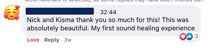 Niki Mantzaris Quintela - Sound Healing Testimonial - Bigger Future