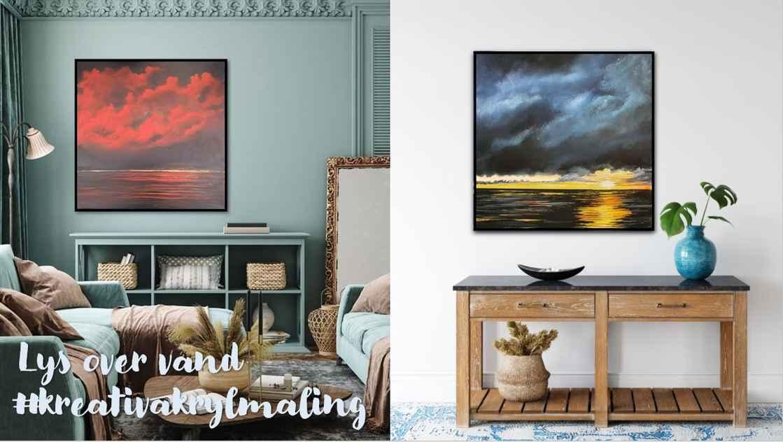 Lys over vand - mørke malerier