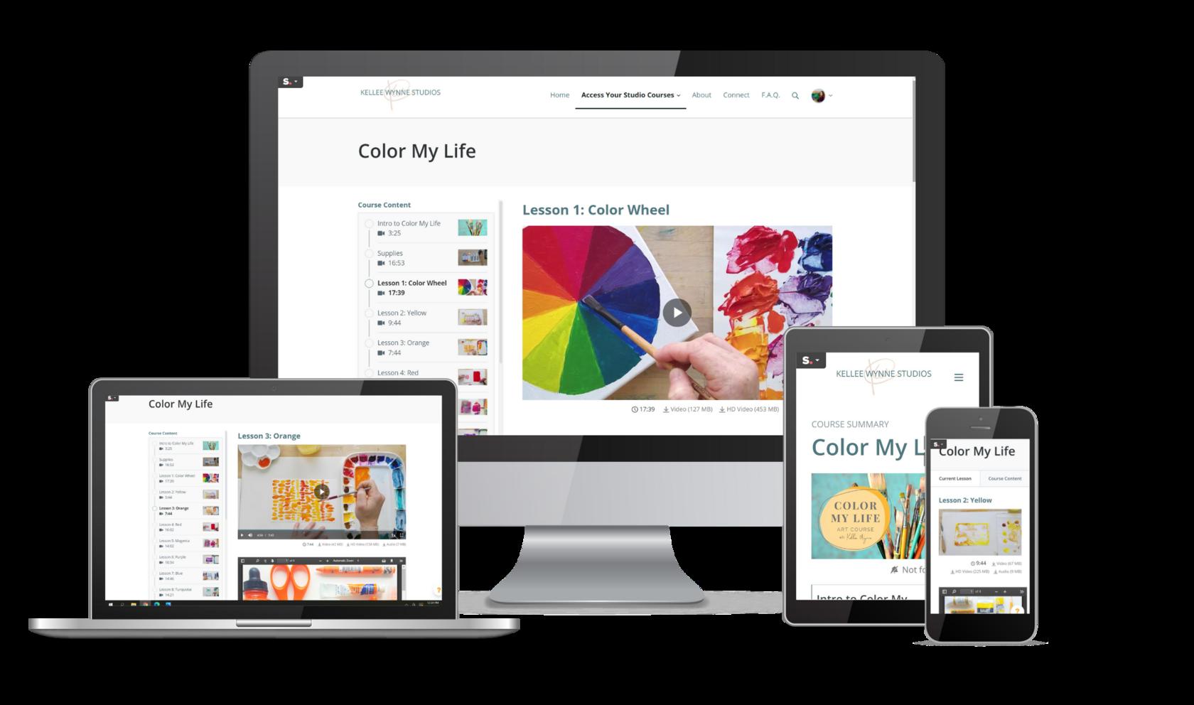 Color My Life Computer View Kellee Wynne Studios