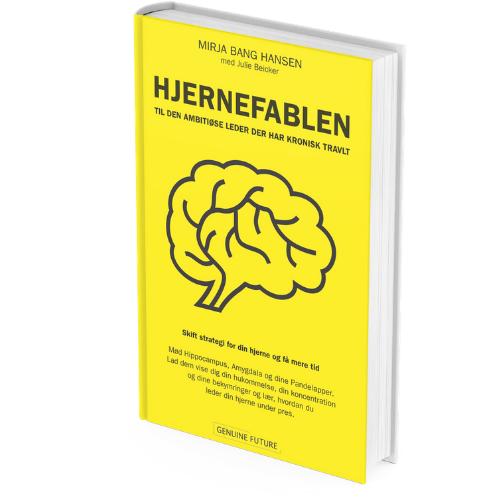 Hjernefabel som bog - hvid baggrund