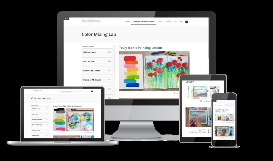 Color Mixing Lab Computer View Kellee Wynne Studios
