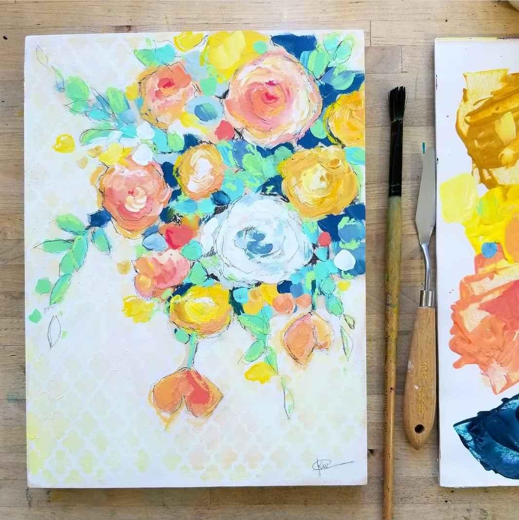 COlor My Life Lace Floral Kellee Wynne Studios