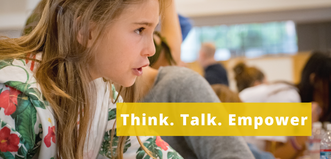 Think. Talk. Empower. with girl 2