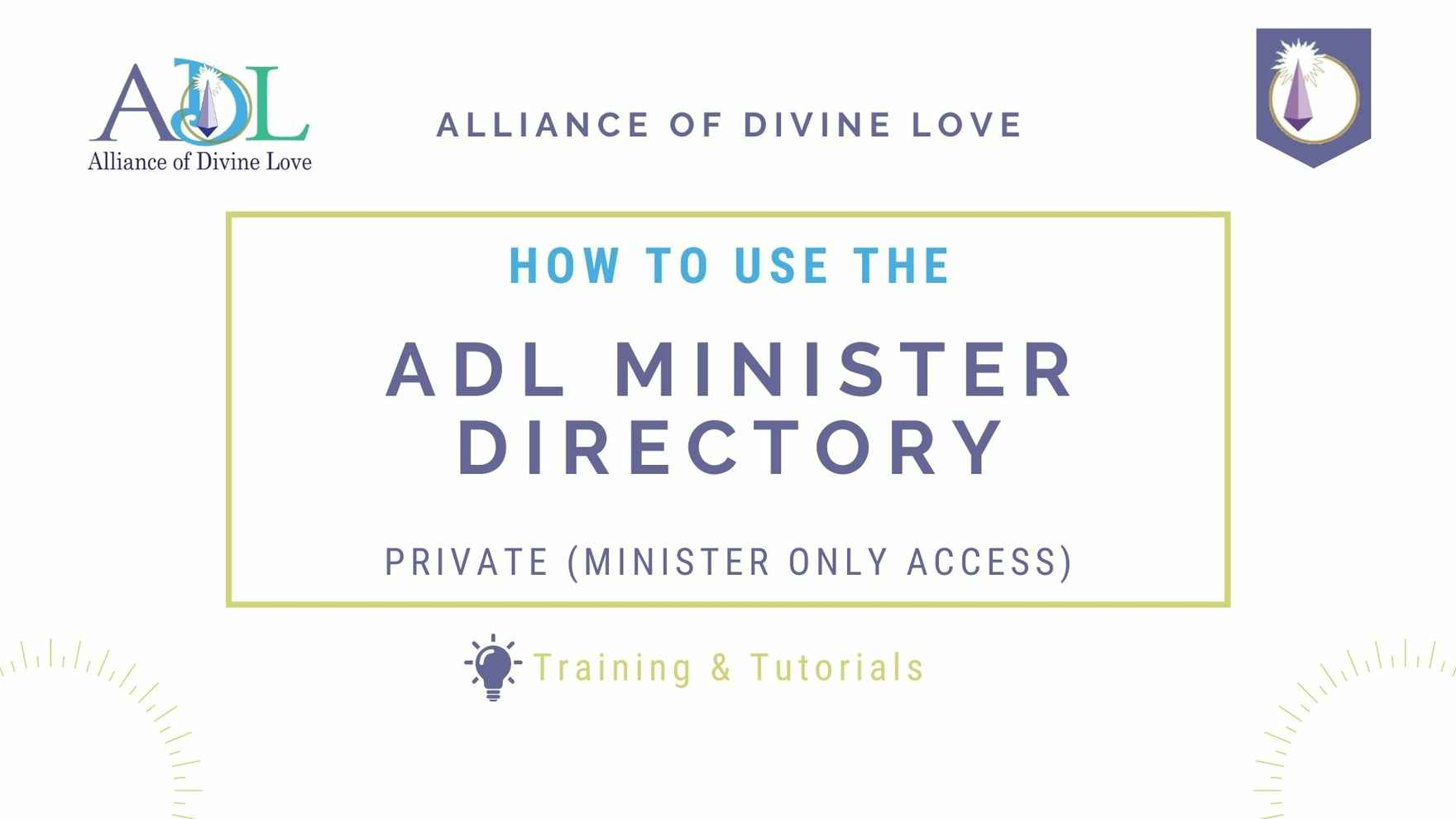 How to use the Minister Directory