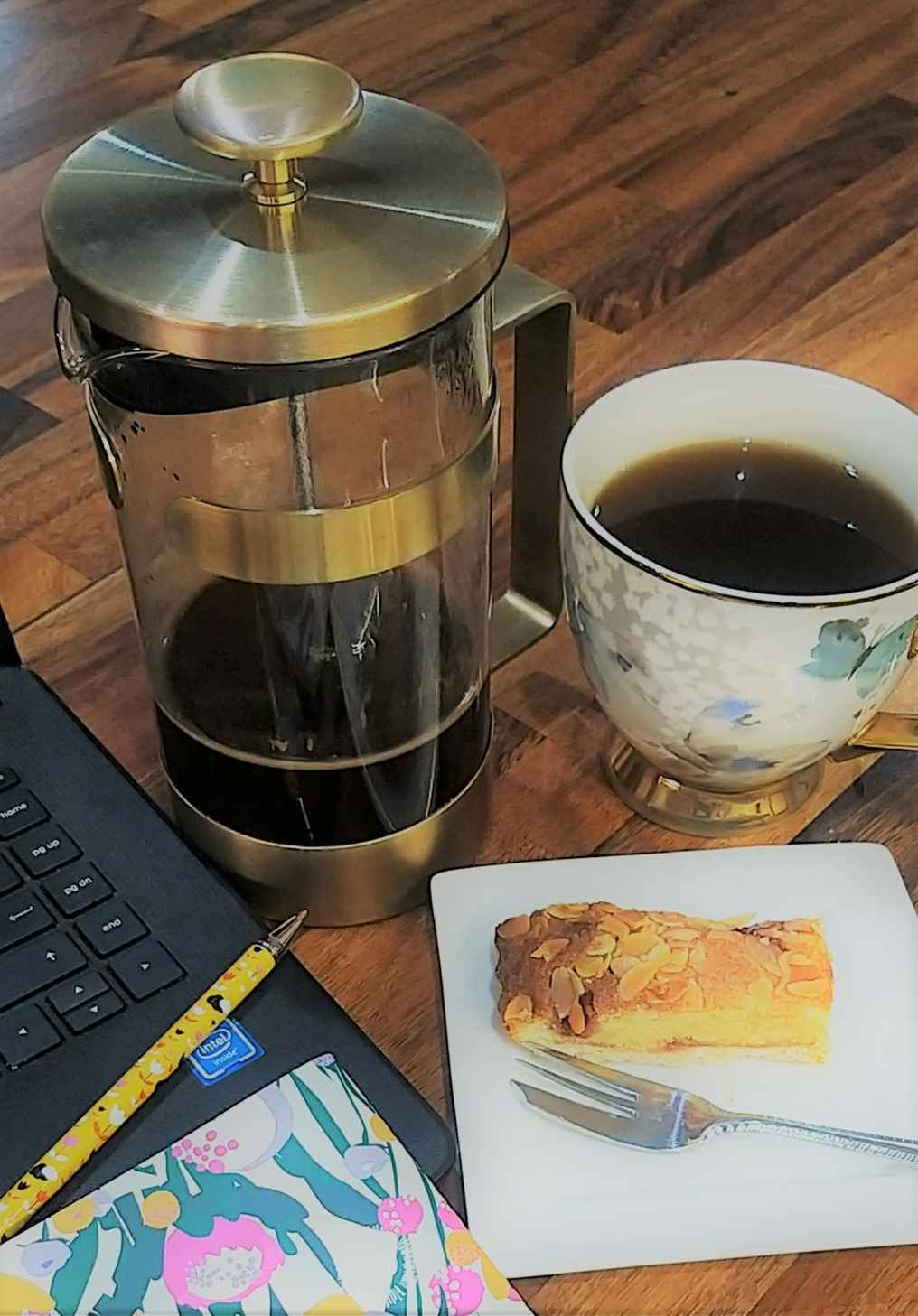 coffee with laptop