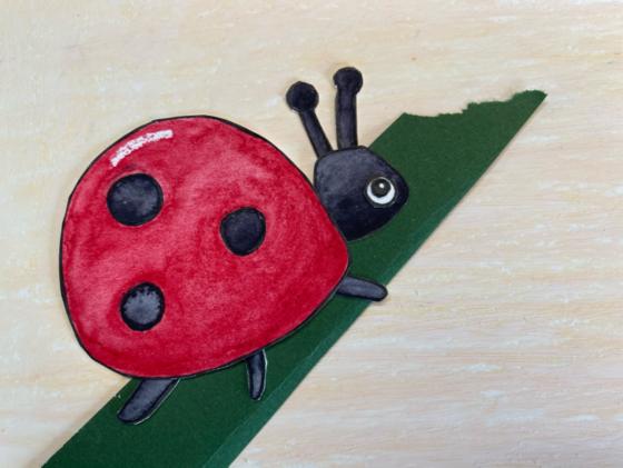Ladybug on blade