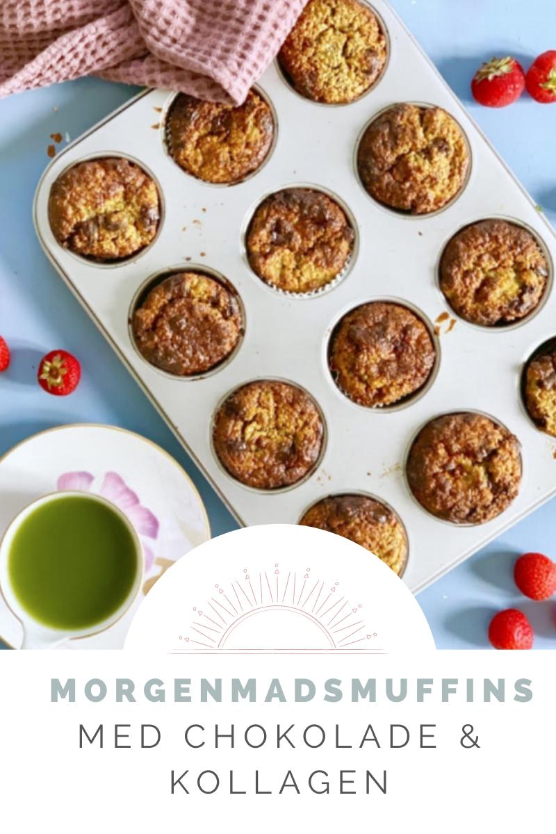 Opskrifter til bloggen - Morgenmadsmuffins med chokolade og kollagen