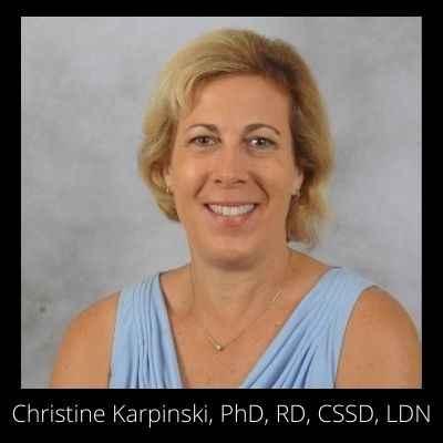 Christine Karpinski, PhD, RD, CSSD, LDN 400 x 400 black background
