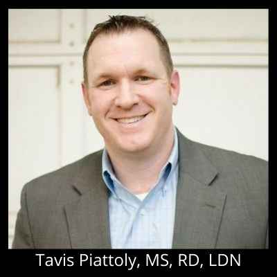 Tavis Piattoly, MS, RD, LDN 400 x 400 black background