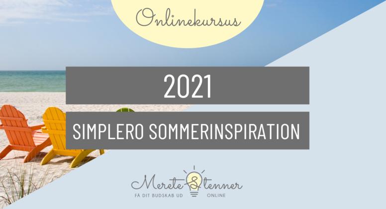 2021 Simplero sommerinspiration