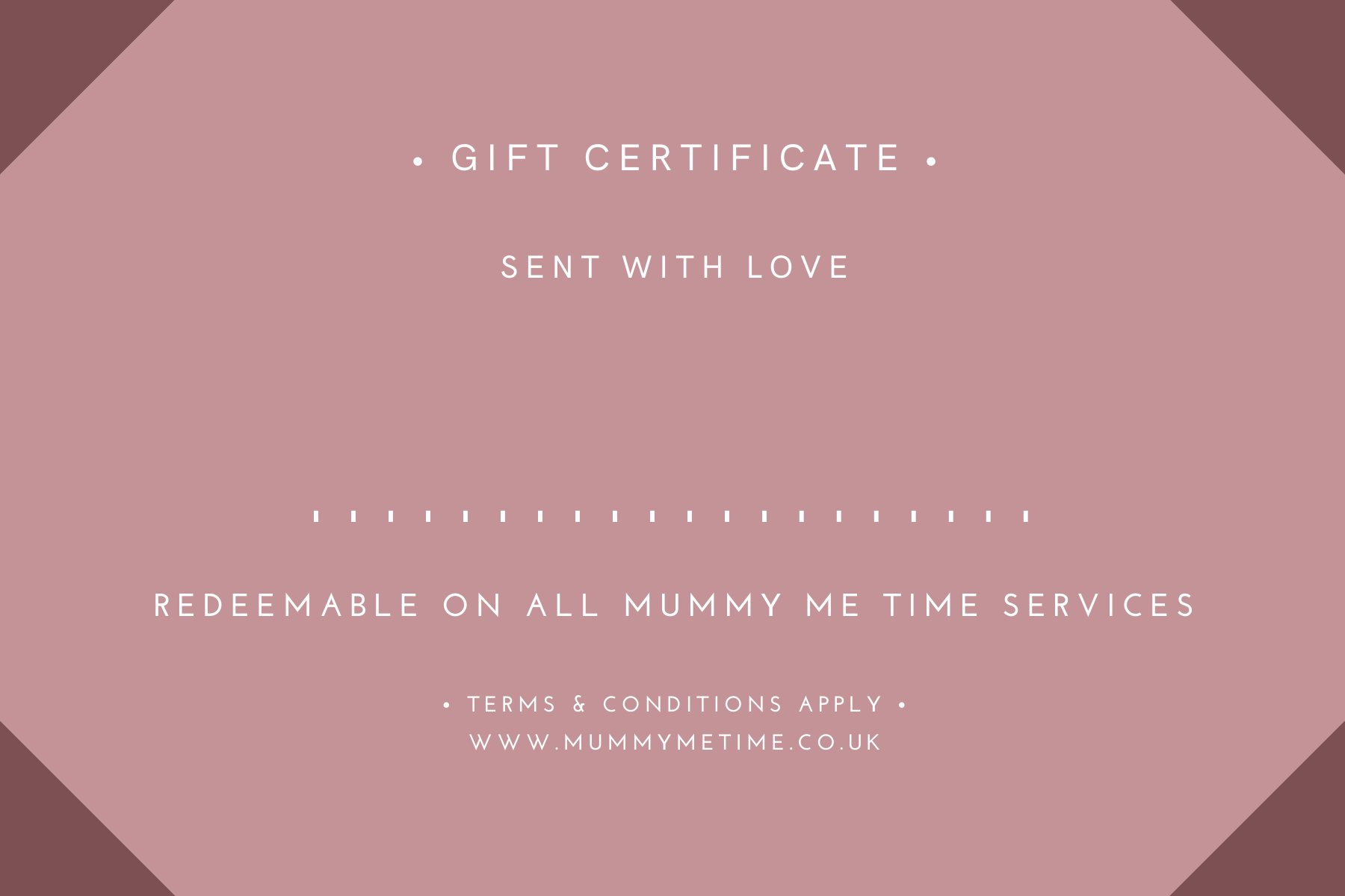Mummy Me Time Gift Certificate (1)