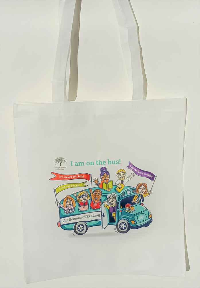 """""""I am on the Bus"""" tote bags (postage included)"""