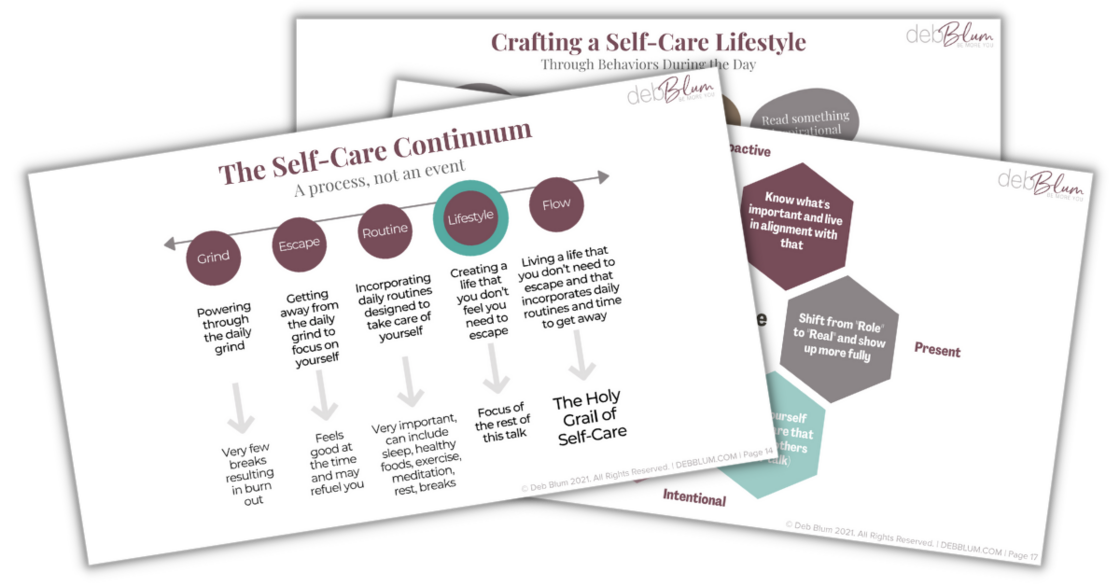 Self-Care Lifestyle Talk