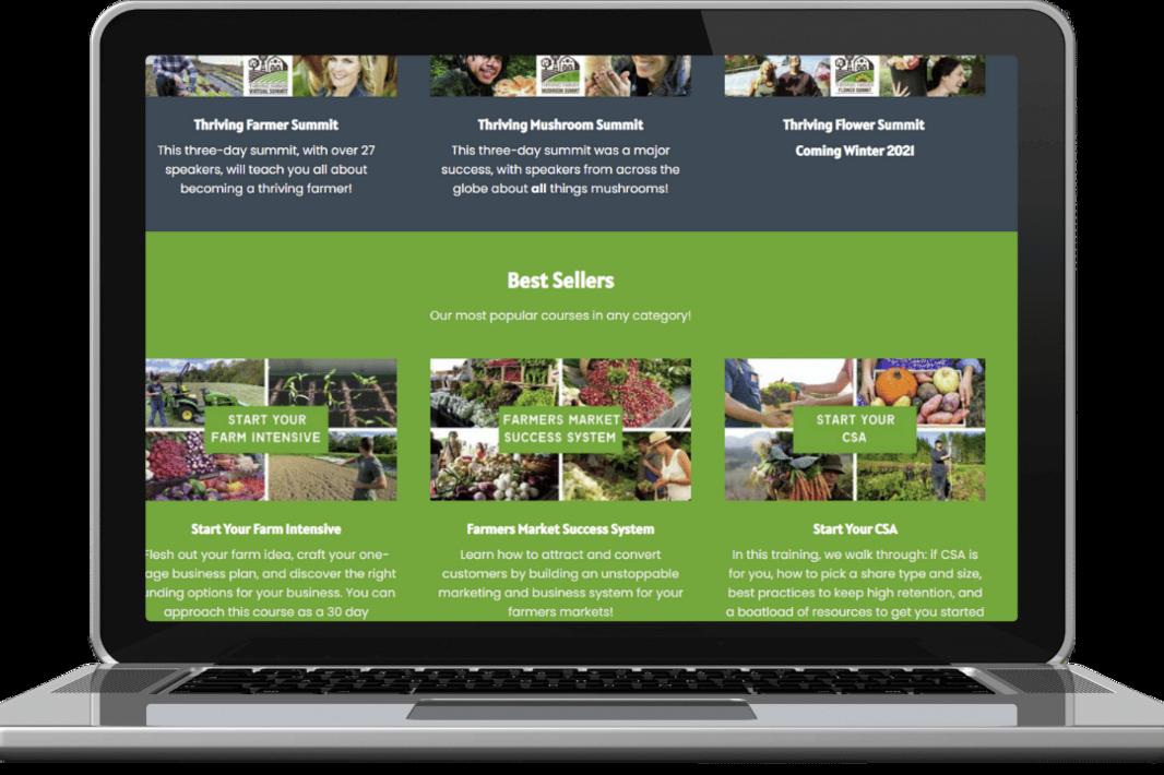 Course Catalog- Laptop- Preview- Product SHot