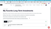 Long-Term Investment #2 (8 June 2021)