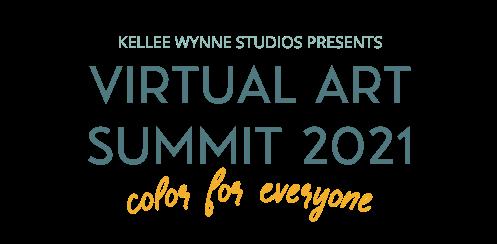 Virtual Art Summit 2021 by Kellee Wynne Studios transparent LOGO