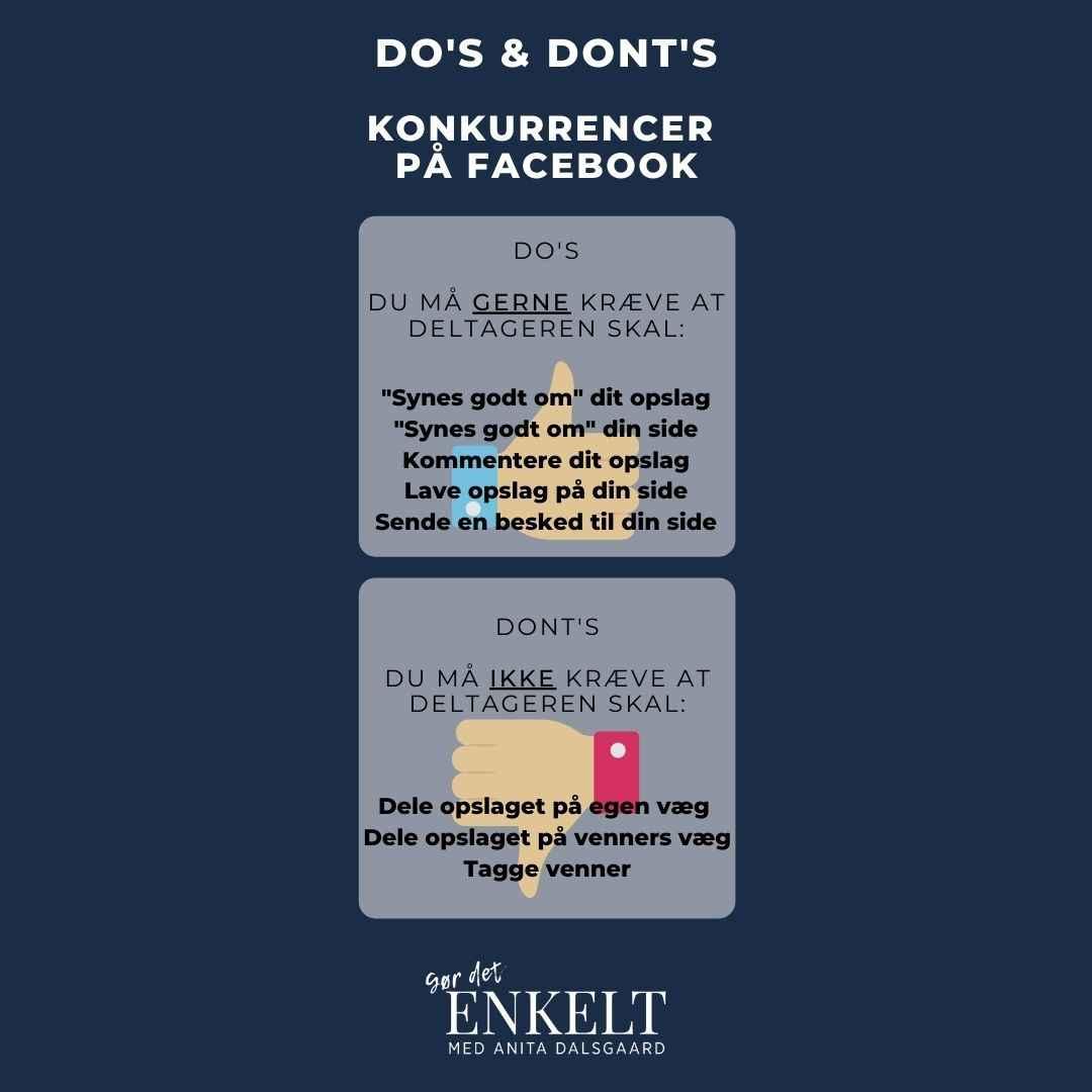 Facebook konkurrence regler