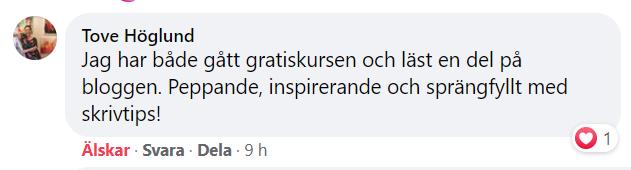 Tove Höglunds tankar om kursen