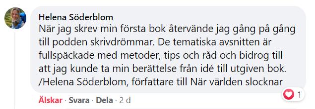 Helena Söderboms tankar om kursen