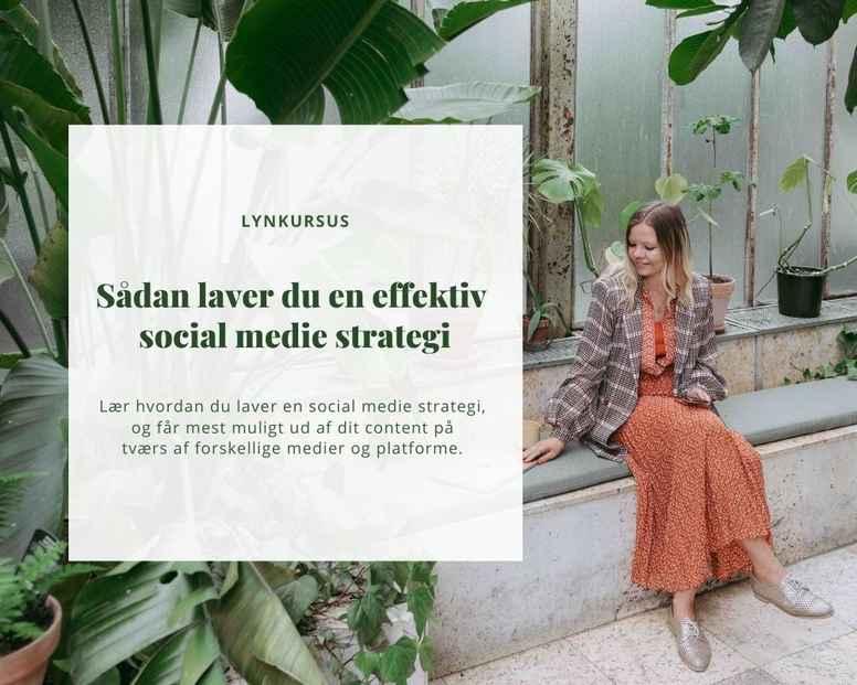 Sådan laver du en effektiv social medie strategi