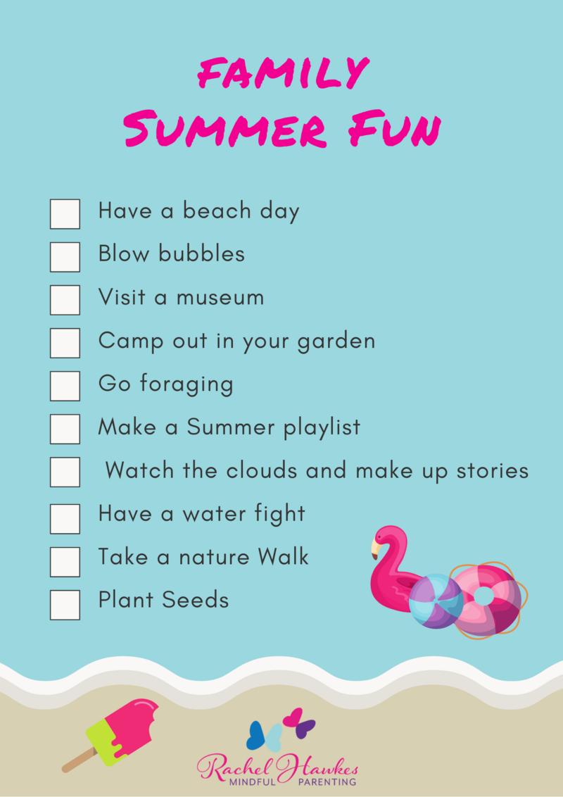 MP Summer Fun Checklist