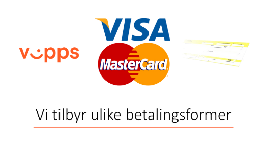 Betalingsformer, VISA, Vipps og faktura. TRANSPARENT. png