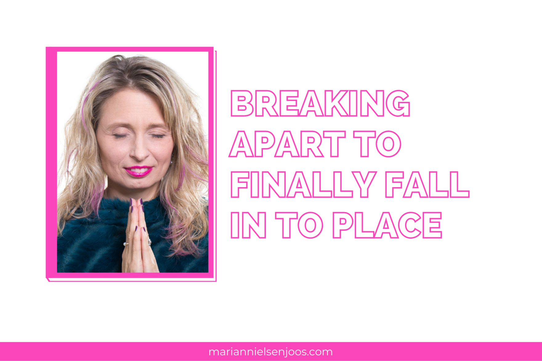 breaking apart to finally fall in to place
