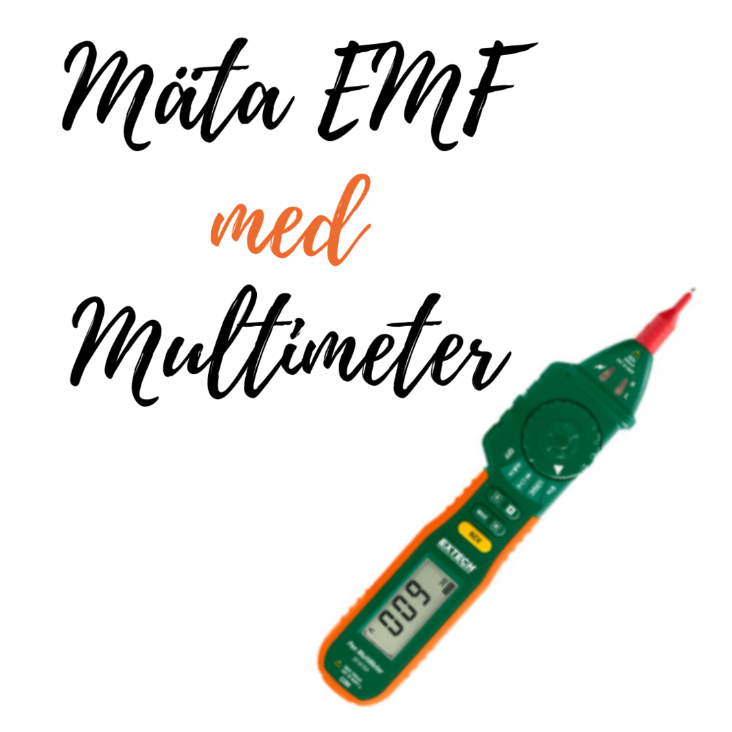 1080x1080 mäta EMF med Multimeter