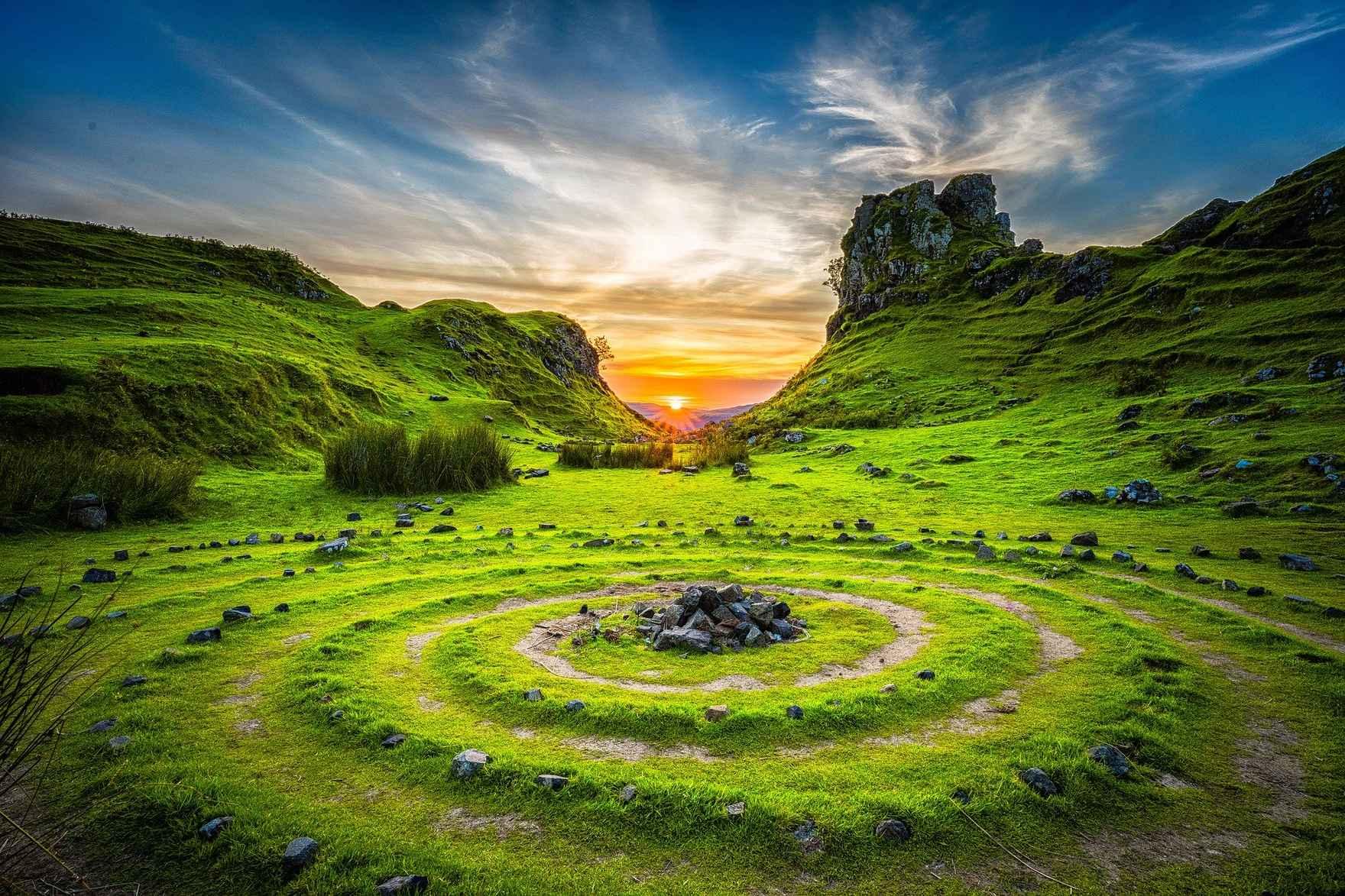 stone circles spiral center