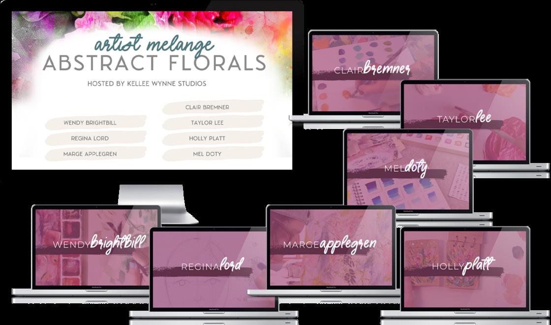 melange - abstract floral mockup all copy