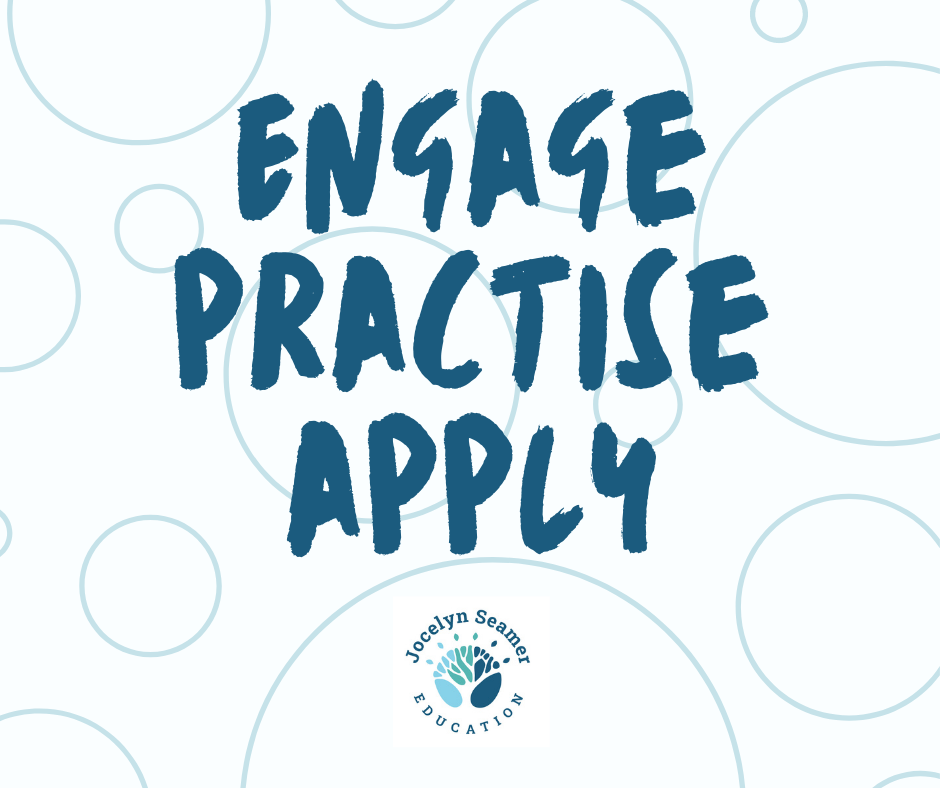 Engage, practice, apply