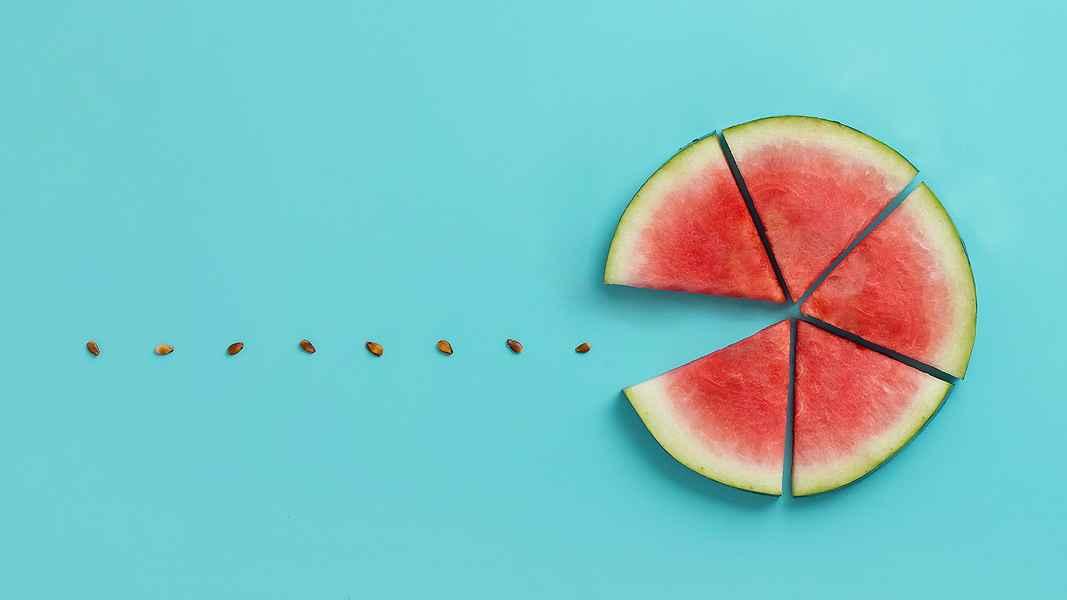 creative pacman watermelon seeds