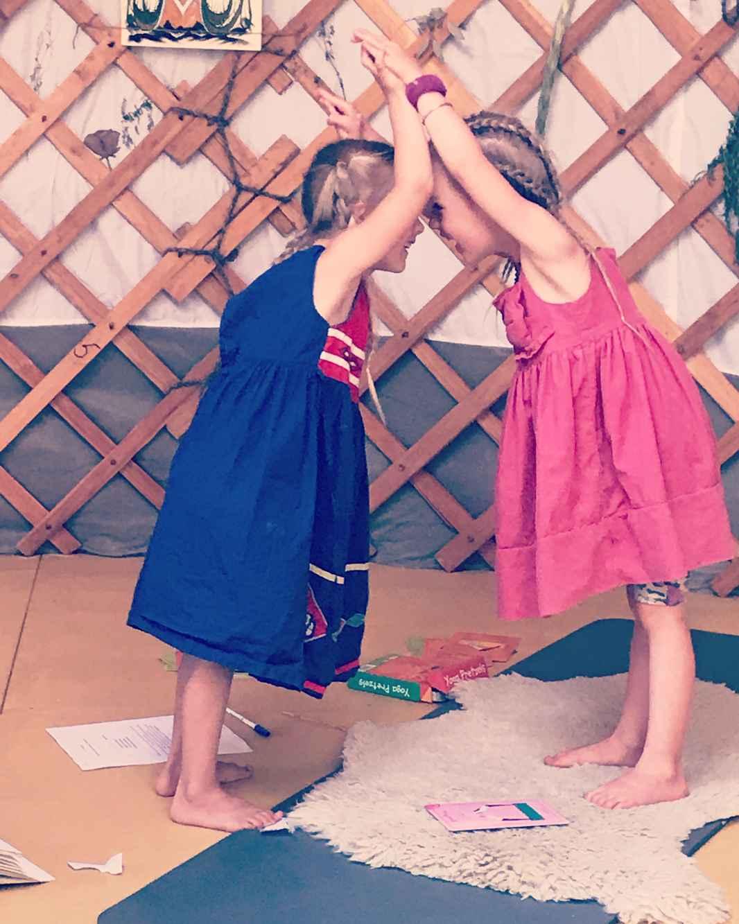 twins in yurt