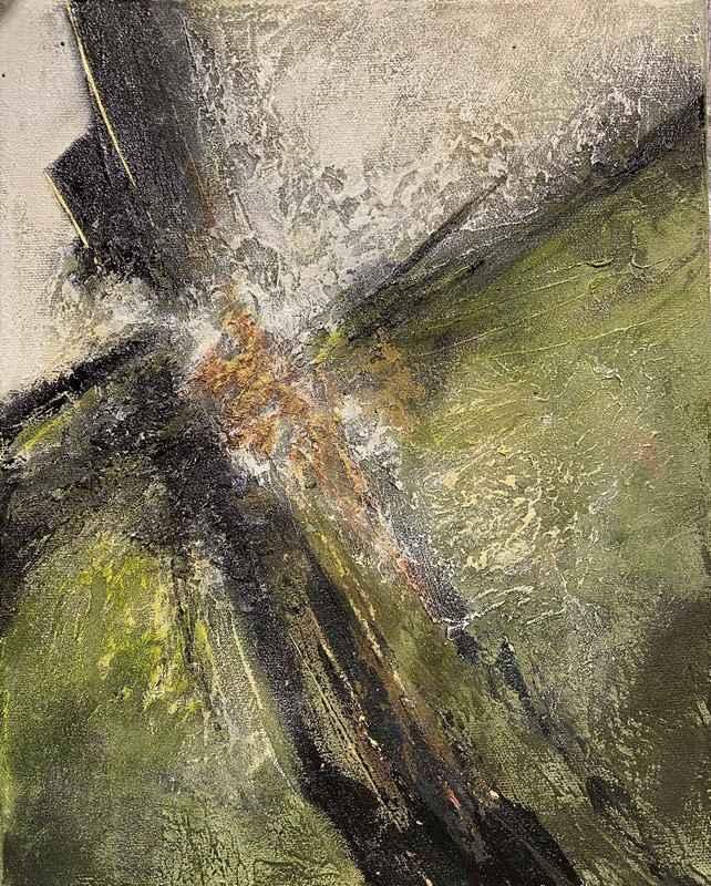 Delikate malerier - Powertex, grøn