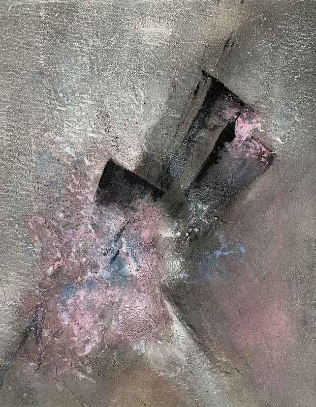 Delikate malerier - Powertex, lys rød