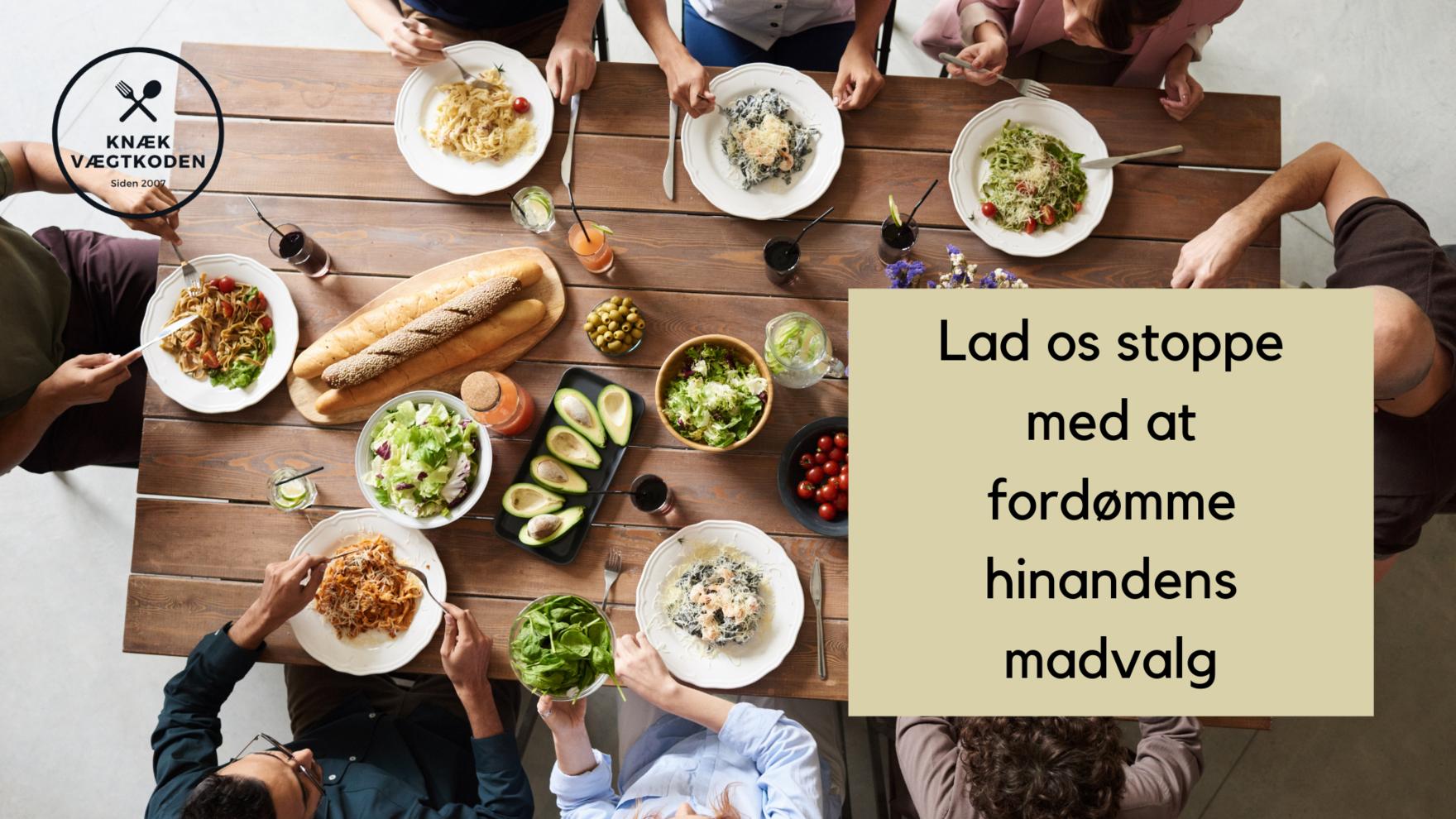 fordømme madvalg skam