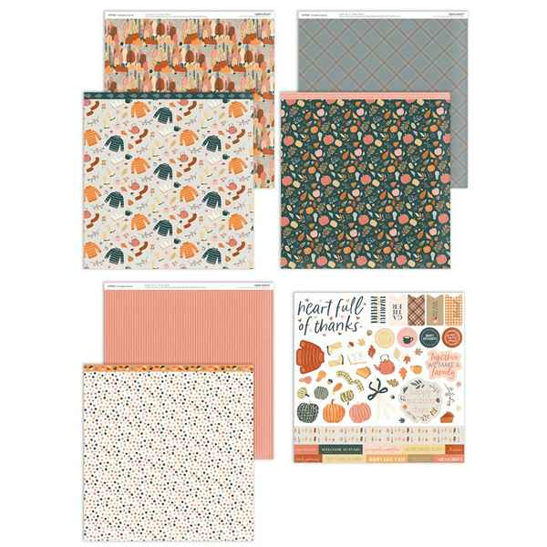 X7272S Pumpkin Spice Paper and Stickers