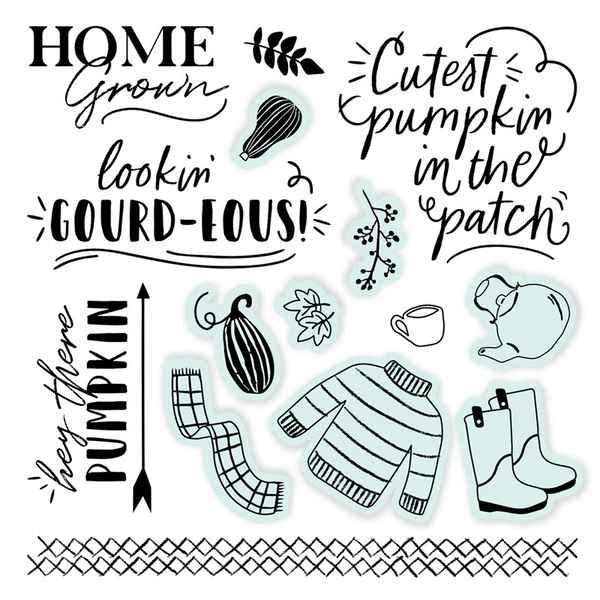 D2046 Pumpkin Sice Scrapbooking Stamps