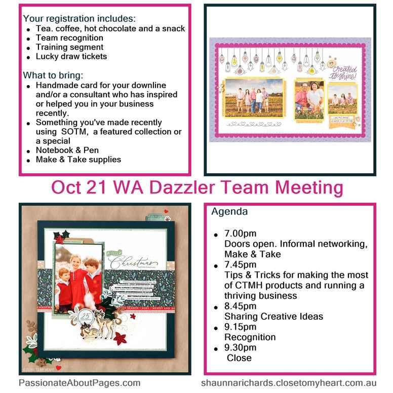 Dazzler Team Meeting - Oct 2021