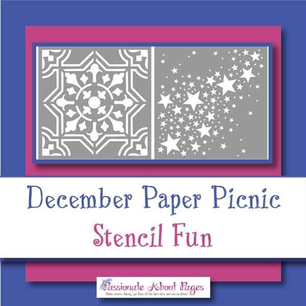 Stencil Fun Paper Picnic