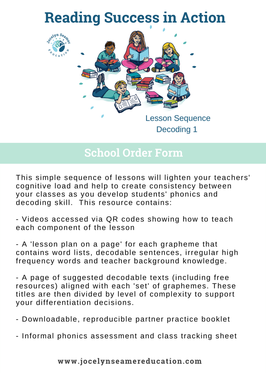 Reading Success in Action - School Order Form