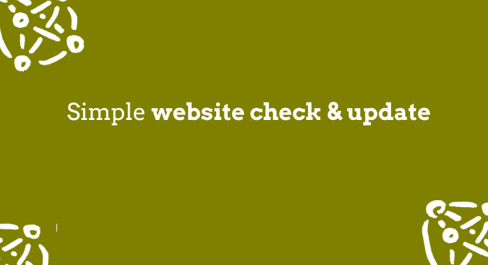 SImple web check and update