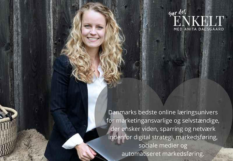 Danmarks bedste online læringsunivers Gør Det Enkelt med Anita Dalsgaard