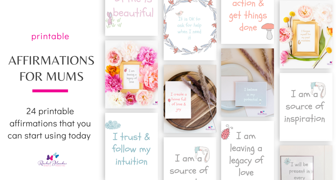Sales page graphics for Mums Affirmation Packs