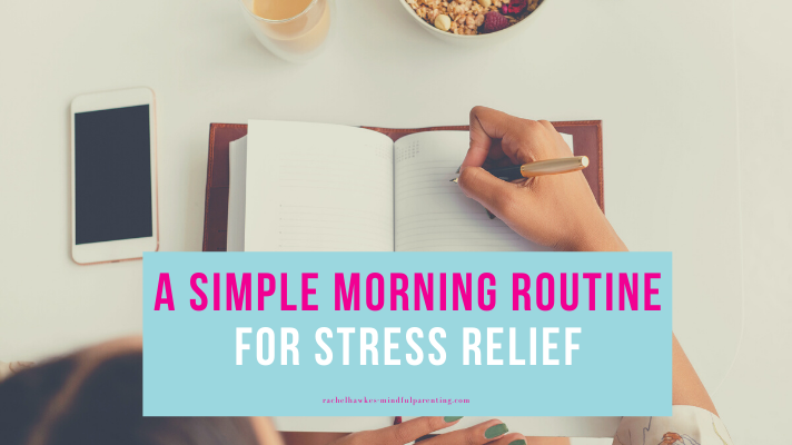 morning routine for stress blog cover