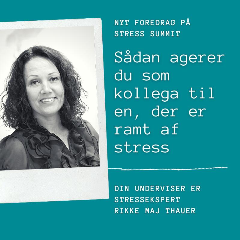 Foredrag_Sådan agerer du som kollega til en, der er ramt af stress